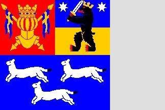 Flagge Westfinnland 120 x 120 cm
