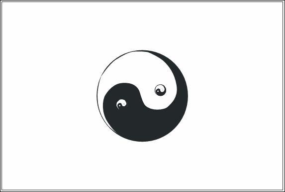 Miniflag Yin Yang 10 x 15 cm