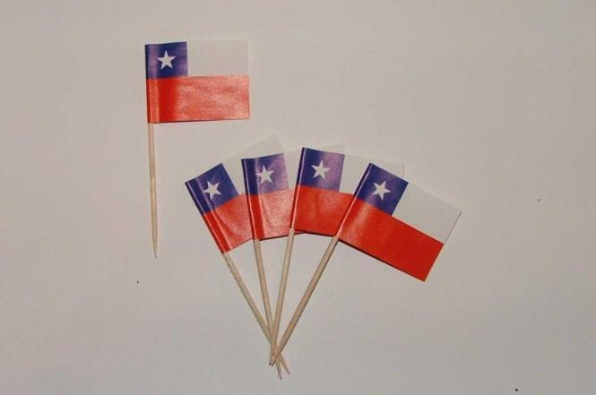 Flaggen Zahnstocher Chile VE = 50