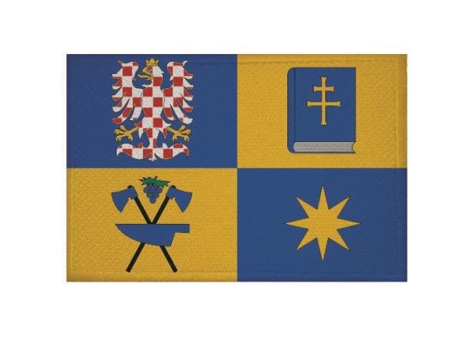 Aufnäher Zlin Region Tschechien Patch 9 x 6 cm