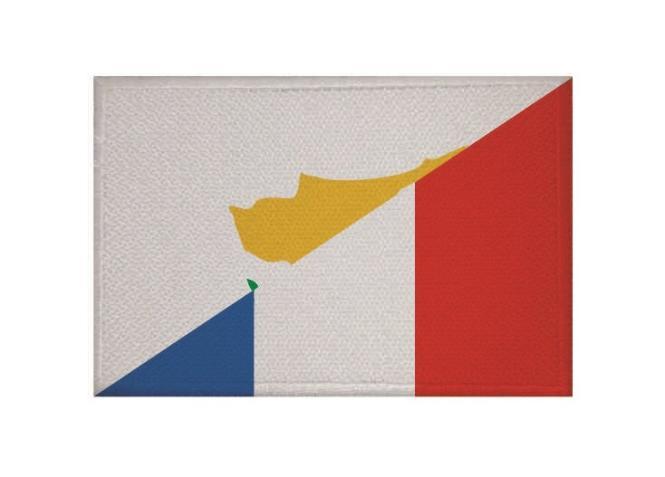 Aufnäher Zypern-Frankreich Patch 9 x 6 cm