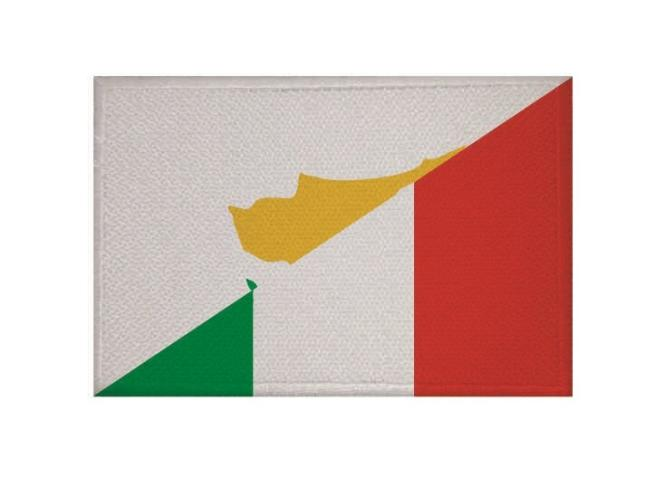 Aufnäher Zypern-Italien Patch 9 x 6 cm