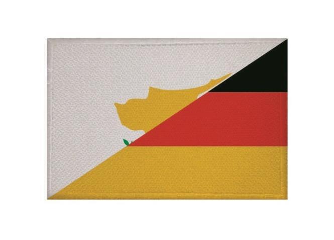 Aufnäher Patch Zypern - Deutschland 9 x 6 cm