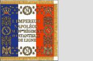 Fahne Standarte Frankreich 100. Linien-Infanterie-Regiment 80 x 80 cm
