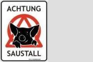 Funschild Achtung Saustall 17 x 22 cm