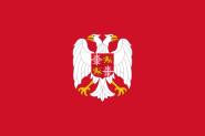 Flagge Gösch Marine Serbien und Montenegro