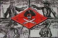 Fahne 4 Piraten 90 x 150 cm
