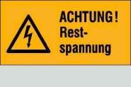 Achtung! Restspannung 5,2 x 2,6 cm