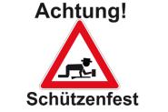 Fahne Achtung Schützenfest 90 x 150 cm