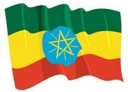 Aufkleber Flagge Äthiopien wehend 8,5 x 6 cm