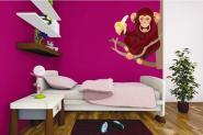 Wandtattoo Affe mit Banane