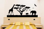 Wandtattoo Afrikanische Savanne schwarz | M