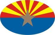 Aufkleber oval Arizona 10 x 6,5 cm
