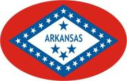 Aufkleber oval Arkansas 10 x 6,5 cm