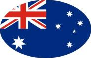 Aufkleber oval Australien 10 x 6,5 cm
