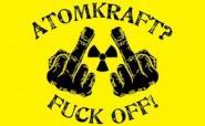 Fahne Atomkraft Fuck off 90 x 150 cm