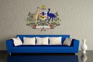 Wandtattoo Australien Wappen Color