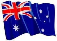 Aufkleber Flagge Australien wehend 8,5 x 6 cm