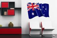 Wandtattoo Wehende Flagge Australien