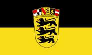 Flagge Baden-Württemberg mit Wappen