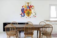 Wandtattoo Barbados Wappen Color