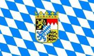 Fahne Bayern mit Wappen 90 x 150 cm