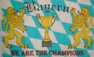 Fahne Bayern - We are the Champions 90 x 150 cm