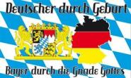 Fahne Bayern durch die Gnade Gottes 90 x 150 cm