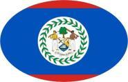 Aufkleber oval Belize 10 x 6,5 cm