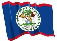 Aufkleber Flagge Belize wehend 8,5 x 6 cm