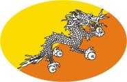 Aufkleber oval Bhutan 10 x 6,5 cm
