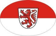 Aufkleber oval Braunschweig 10 x 6,5 cm