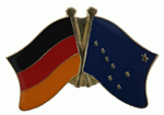 Freundschaftspin Deutschland - Alaska 25 x 15 mm