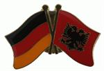 Freundschaftspin Deutschland - Albanien 25 x 15 mm