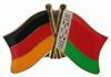 Freundschaftspin Deutschland - Belarus 25 x 15 mm