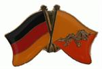 Freundschaftspin Deutschland - Bhutan 25 x 15 mm