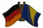 Freundschaftspin Deutschland - Bosnien Herzegowina 25 x 15 mm