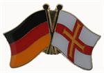 Freundschaftspin Deutschland - Guernsey 25 x 15 mm
