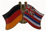 Freundschaftspin  Deutschland - Hawaii 25 x 15 mm