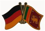 Freundschaftspin Deutschland - Sri Lanka 25 x 15 mm