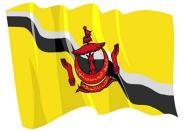 Aufkleber Flagge Brunei wehend 8,5 x 6 cm