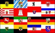 Fahne 16 Bundesländer 30 x 45 cm