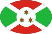 Aufkleber oval Burundi 10 x 6,5 cm