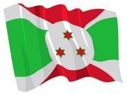 Aufkleber Flagge Burundi wehend 8,5 x 6 cm