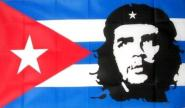Fahne Kuba mit Che Guevera 90 x 150 cm
