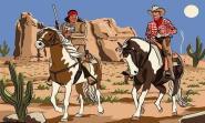 Fahne Cowboy und Indianer 90 x 150 cm