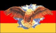 Fahne Deutschland breiter Adler 90 x 150 cm