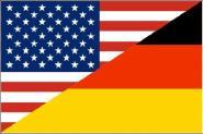 Fahne Deutschland-USA Freundschaftsflagge 90 x 150 cm