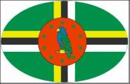 Aufkleber oval Dominica 10 x 6,5 cm