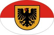 Aufkleber oval Dortmund 10 x 6,5 cm
